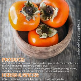 What Goes Well With Persimmon
