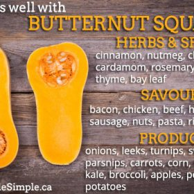 what goes well with butternut squash