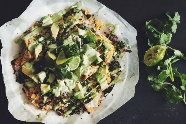 Green Vegan Nachos
