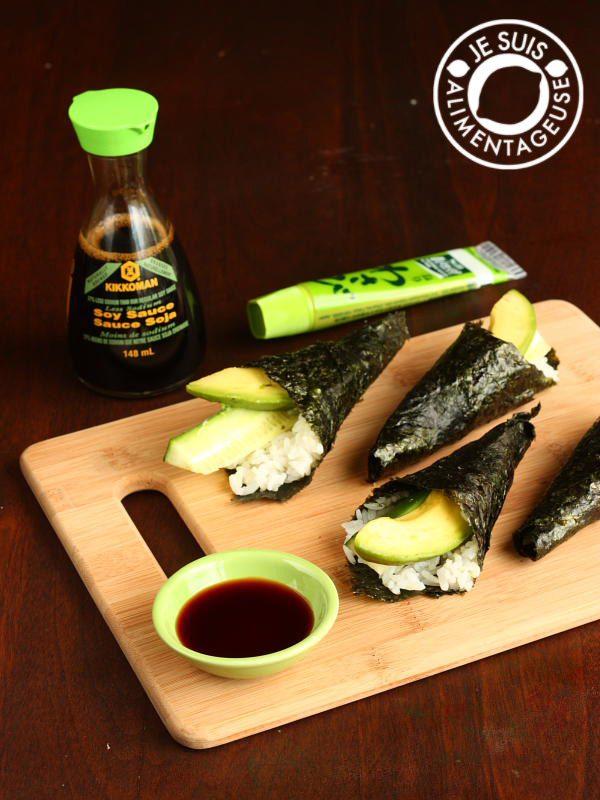 TVV Avocado Cucumber Hand Rolls