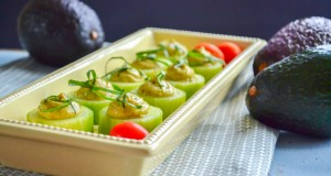 Whipped Guacamole Cucumber Bites