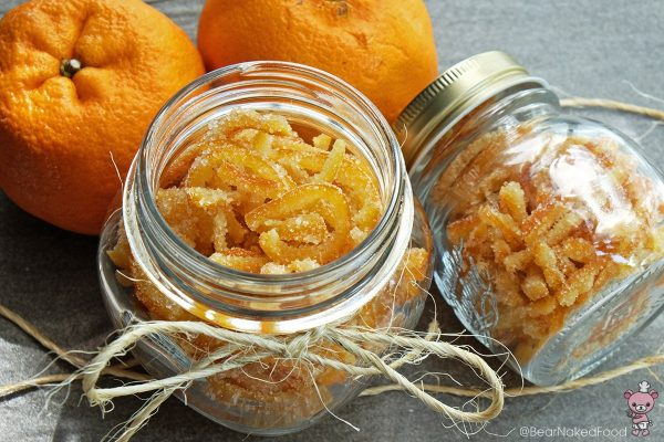 candied orange peel - bear naked food