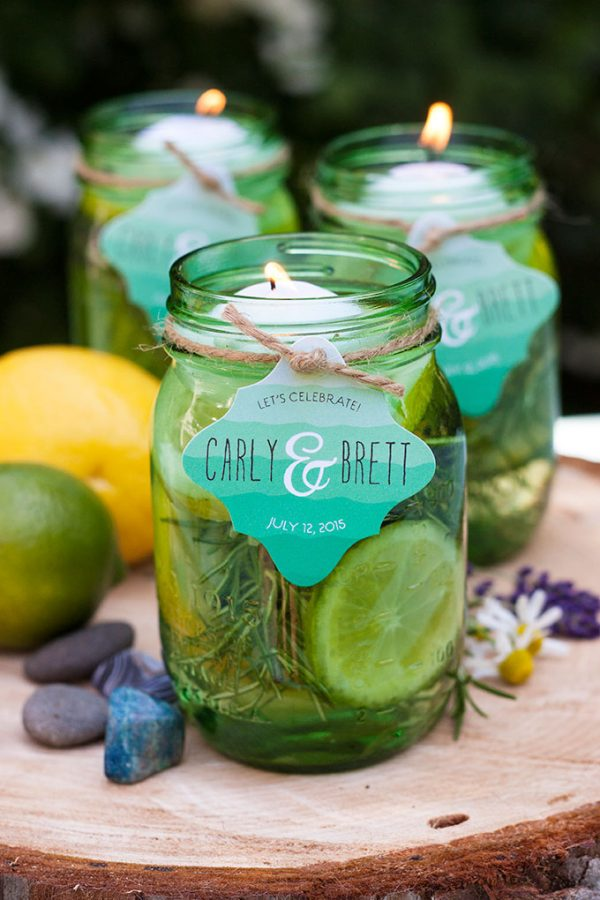 mason jar floating citronella candles