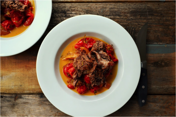 Beef Roast with Apples Tomatoes Herbs Family Feedbag