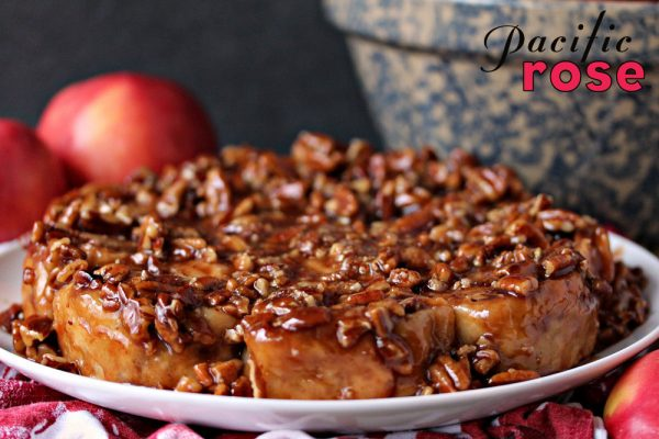 Overnight Apple Pecan Caramel Sticky Buns from Cravings of a Lunatic