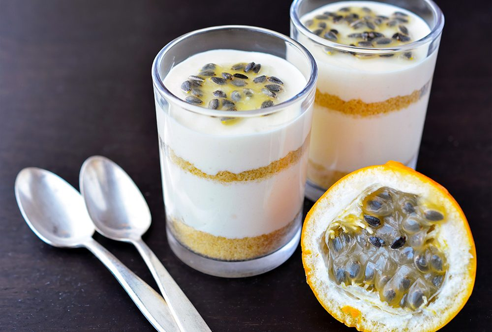 Layered Passionfruit Pudding