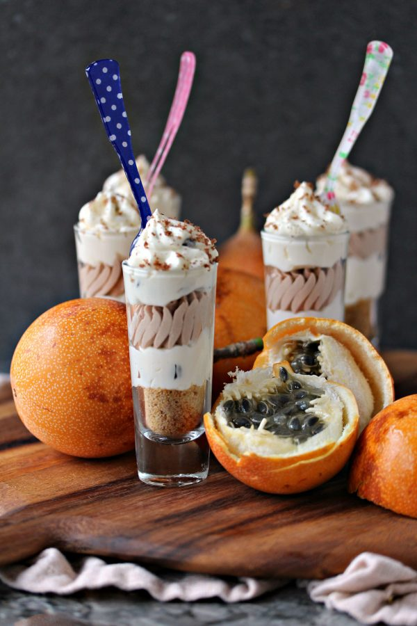 Passionfruit and Chocolate Cheesecake Parfaits 11