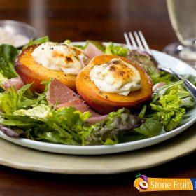 Roasted Chilean Peach and Nectarine Salad