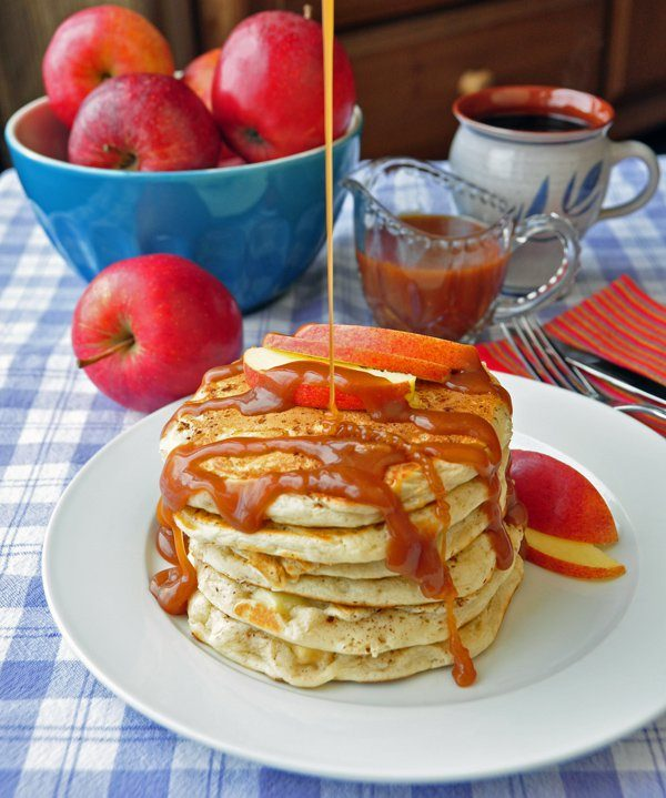 caramel apple pancakes rock recipes