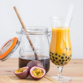 Passionfruit Mango Bubble Tea | Produce Made Simple | Recipe developed by The Viet Vegan