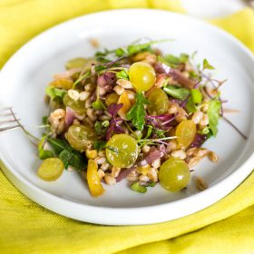 Chilean Grapes and Farro Salad