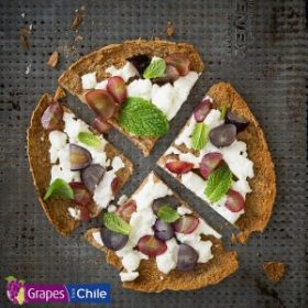 Grape and Goat Cheese Pita Pizza