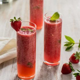 Strawberry Watermelon Mojitos