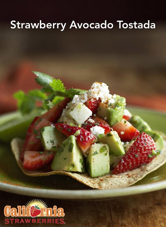 Strawberry Avocado Tostada