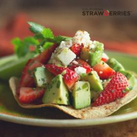 Strawberry and Avocado Tostadas
