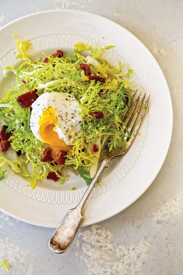 Poached Egg And Bacon Salad - Salad Lyonnaise Recipes — Dishmaps