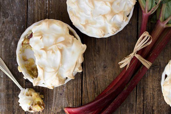 Rhubarb Meringue Tortes