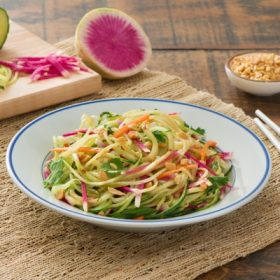 Spiralized Thai Cucumber Salad