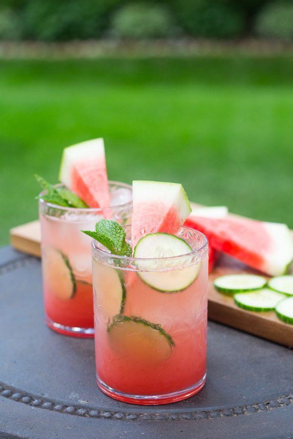 Watermelon Cucumber Mojitos