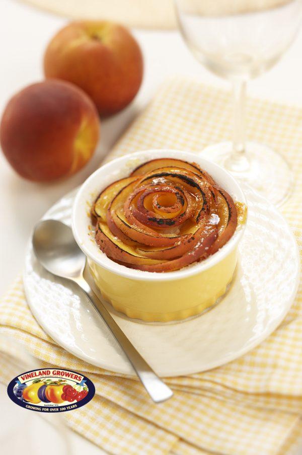 Ontario Peach and Amaretti Cheesecakes