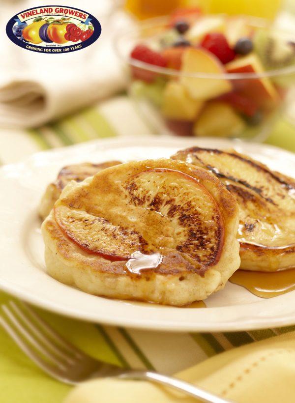 Ontario Peach and Ricotta Pancakes sm