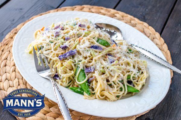 Pasta Broccoli Vera with Snap Peas
