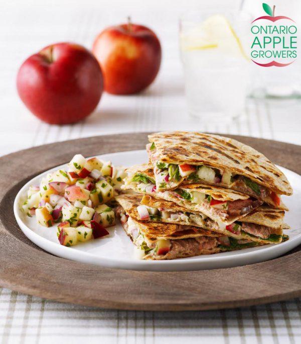 Quesadillas with Ontario Apple Salsa