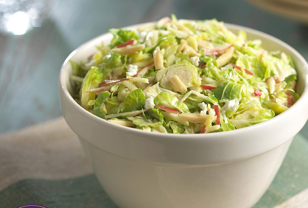 Tangy Brussels Sprout Slaw