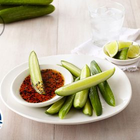 Salt Spiced Snacking Cucumbers