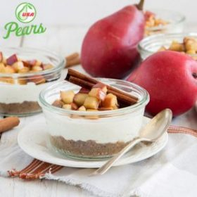 No Bake Pear Cheesecake