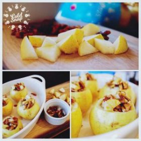 Cold Snap™ Baked Pears with Honeyed Pecan Filling