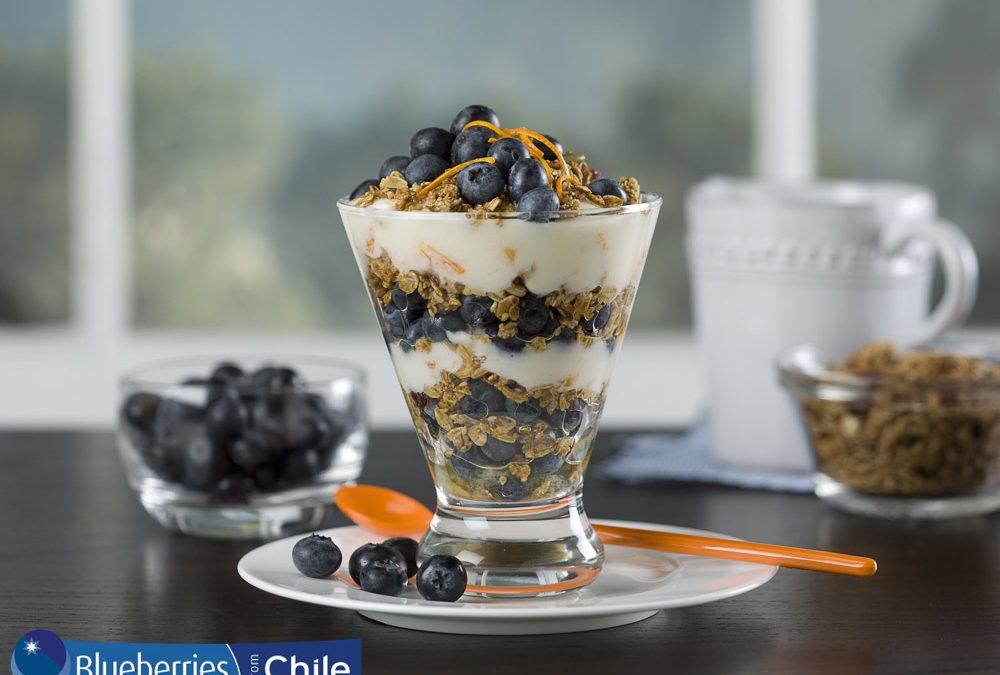 Blueberry and Orange Yogurt Breakfast Parfait
