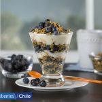 Fresh Chilean Blueberry and Orange Yogurt Breakfast Parfait