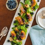 Grilled Peach Blueberry Salad