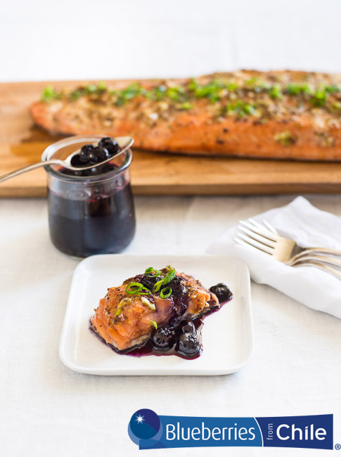 Smoked Salmon with Blueberry Compote