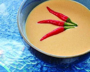 Spicy Chilled Bell Pepper Soup