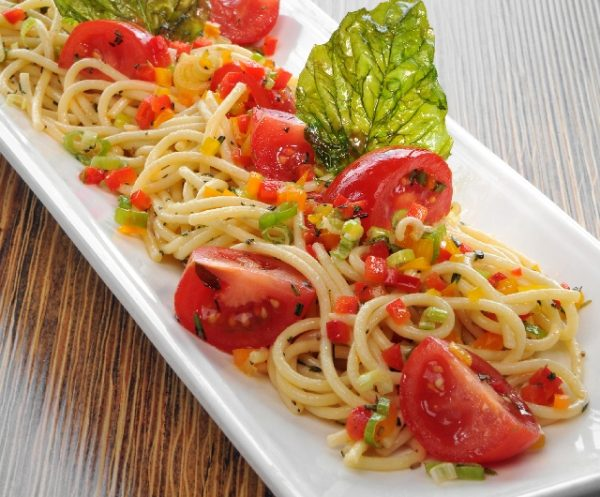 Spiced Up Ontario Greenhouse Vegetable Pasta