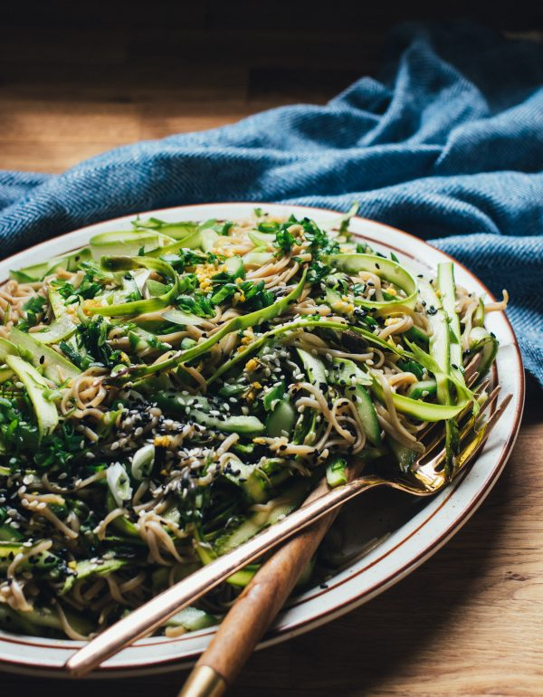 Shaved Asparagus and Soba Noodle Salad