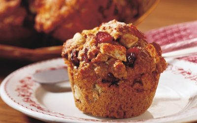 Chunky Cranberry Apple Bran Muffin