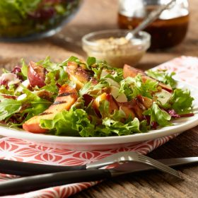 Grilled Ontario Nectarine and Bocconcini Salad