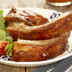 Ontario Peach Glazed Ribs