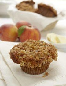 Ontario Peach Streusel Muffins