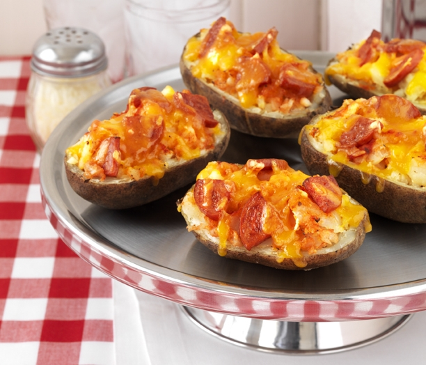 Pizza-Stuffed Potatoes