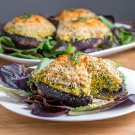 Vegan Quiche Stuffed Mushrooms | Produce Made Simple