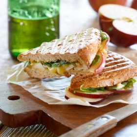 Apple Brie and Arugula Panini