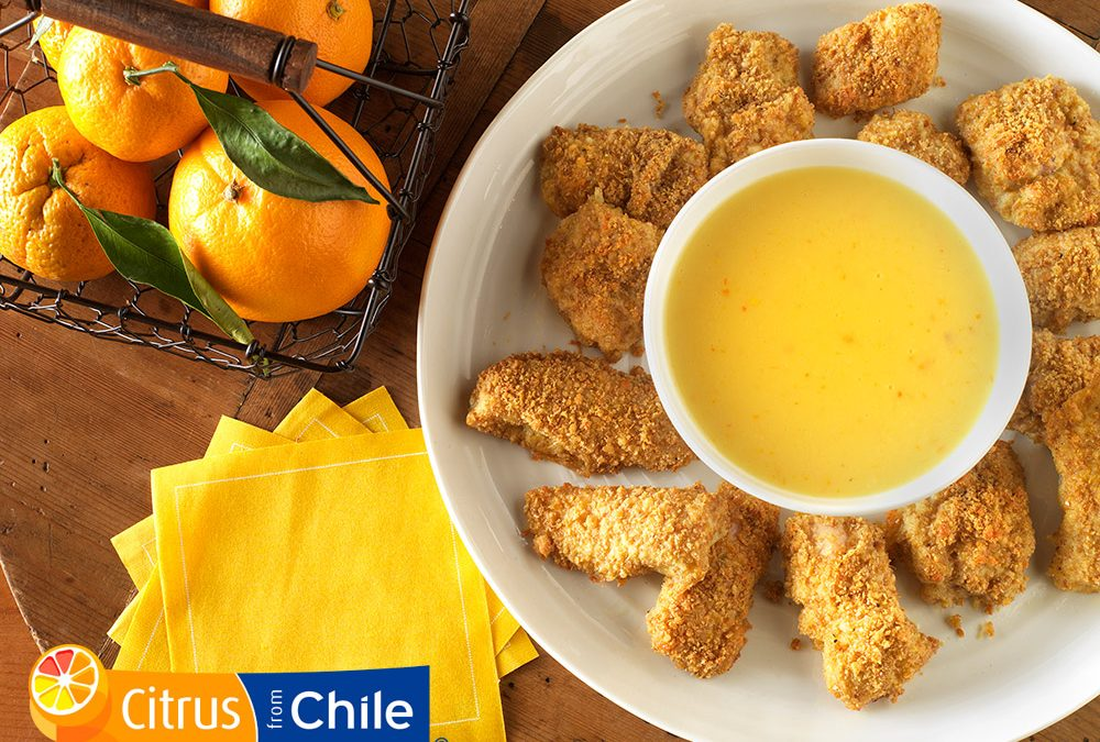 Chicken Nuggets with Orange Dipping Sauce