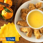 Chicken Nuggets with Chilean Orange Dipping Sauce