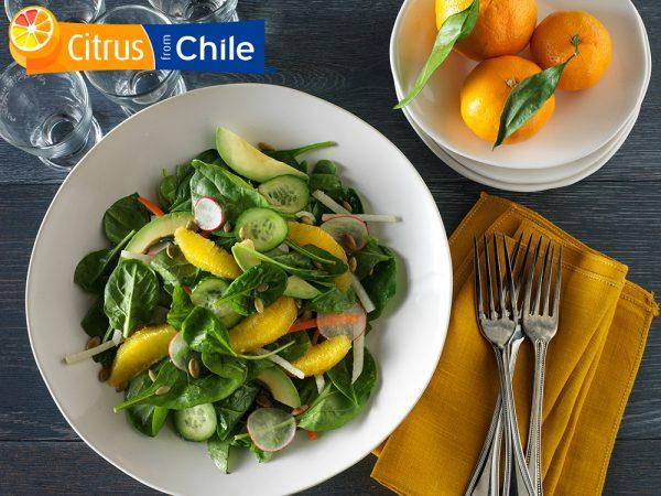 Orange Jicama Salad with Lemon Ginger Dressing
