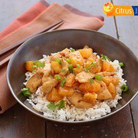 Ginger Orange Chicken with Rice
