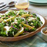 Ontario Pear, Stilton and Kalae Salad